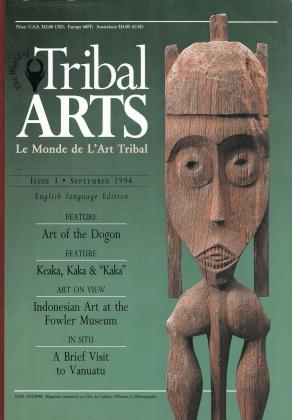 Tribal Arts | Le Monde de l'Art Tribal N°03, septembre 1994 | Editions D, Frédéric Dawance