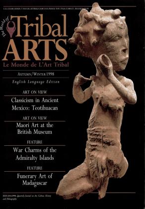 Tribal Arts | Le Monde de l'Art Tribal N°19, automne-hiver 1998 | Editions D, Frédéric Dawance